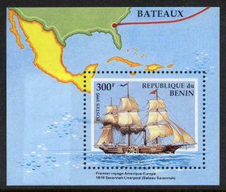 Benin 754 - Ship,  Map photo