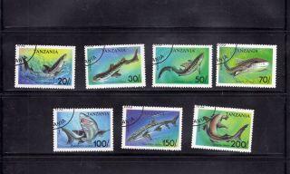 Tanzania 1993 Sharks Scott 1136 - 42 Cancelled photo