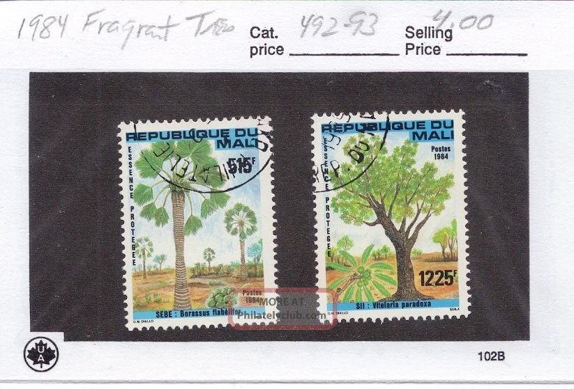 Mali 1984 Fragrant Trees Scott 492 - 93 Topical Stamps photo