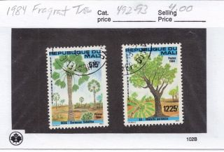 Mali 1984 Fragrant Trees Scott 492 - 93 photo