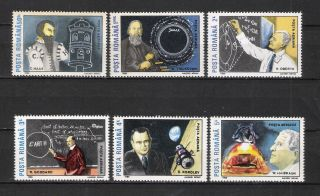 Romania 1989 Space Scientists 6v Mi 4575/80 Vf photo