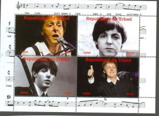 Paul Mccartney Issue Postage Stamp Min Sheet 2013 - Beatles - Music photo