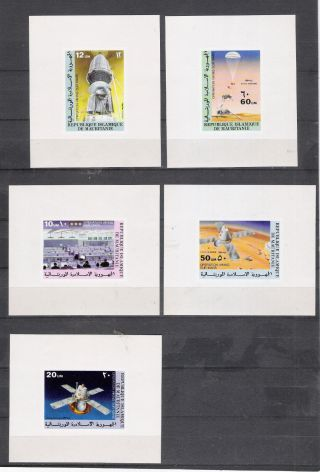 Mauritania 1977 Space Viking Space 5 S/s Imperf.  Vf photo