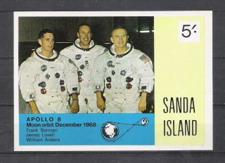 Sanda Island 1968 Space Appolo 8 Moon Opbit S/s Imperf.  Vf photo