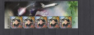 Israel 2004 Space Ilan Ramon Strip 5v Vf photo