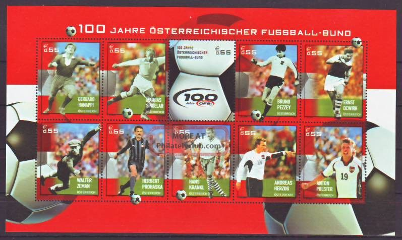 Austria - 2004.  Soccer Legends - Sheet - (2072) Sports photo