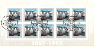 Germany - 1997 - 100th Anniversary Of Mungsteiner Bridge - Sheetlet photo