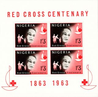 Nigeria - 1963 - Red Cross Centenary S/s - photo