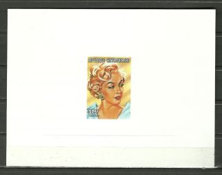 Sc 1178a Marilyn Monroe American Actress And Singer - Embossed Proof Epreuve photo