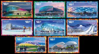 2013.  Russia.  Xxii Winter Olympic Games.  Sochi - 2014.  Athletic Facilities.  8 Cards photo