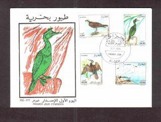 Algeria 1998 - Sea Birds (4v),  Scott 1133/36 - Fdc - photo