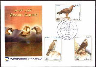 Algeria 2010 - Birds Of Prey (3v),  Scott 1485/87 - Fdc,  With Topical Cancel photo