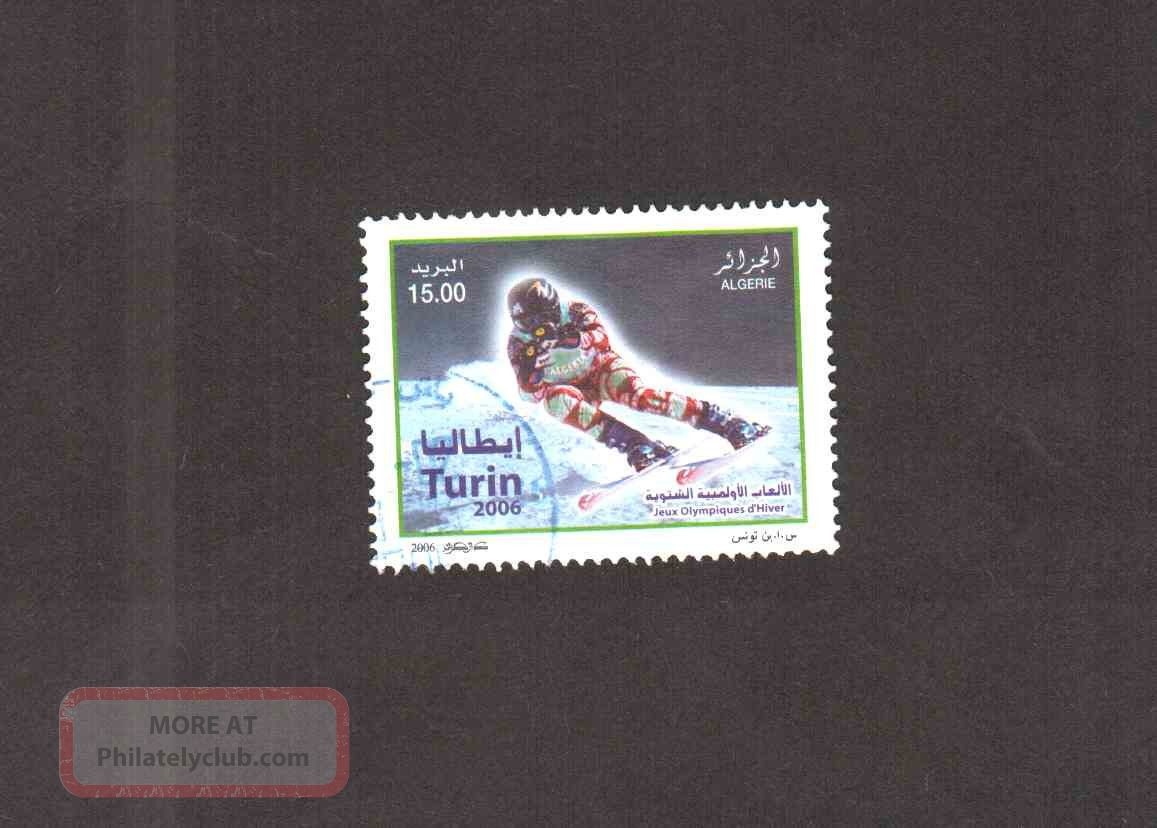 Algeria 2006 - Torino Winter Olympics - Scott 1371 - Stamp - Sports photo