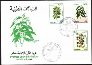 Algeria 2002 - Medicinal Plants,  Scott 1268/70 - Fdc,  With Topical Cancel photo