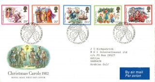 17 November 1982 Christmas Royal Mail First Day Cover Bureau Shs (a) photo