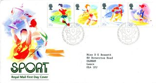 22 March 1988 Sport Royal Mail First Day Cover Bureau Shs (w) photo