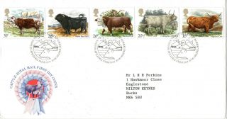 6 March 1984 British Cattle Royal Mail First Day Cover Bureau Shs photo