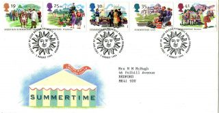 2 August 1994 Summertime Royal Mail First Day Cover Bureau Shs photo