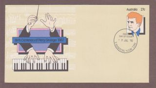 Australia Pse 056,  Pianist Percy Grainger Fdc photo