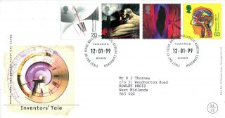 12 January 1999 Inventors Tale Royal Mail First Day Cover Bureau Shs (c) photo