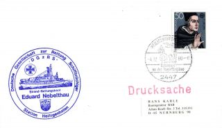 4 December 1980 German Lifeboat Eduard Nebelthau Cached Cover photo