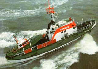 1985 German Lifeboat Arwed Emminghaus Cached Cover & Colour Postcard photo