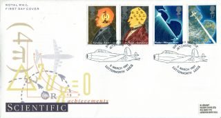 5 March 1991 Scientific Achievement Rm First Day Cover Lutterworth Shs photo
