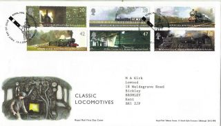 13 January 2004 Classic Locomotives Royal Mail First Day Cover Bureau Shs photo