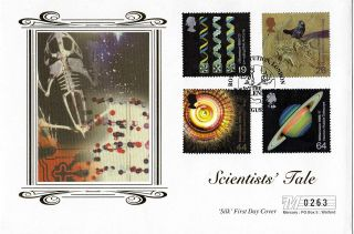 3 August 1999 Scientists Tale Mercury Limited Edition Silk First Day Cover Shs photo