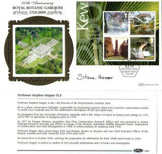 19 May 2009 Endangered Plants M/s Signed Steve Hopper Benham First Day Cover Shs photo