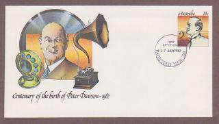 Australia Pse 046,  Singer Peter Dawson Anniversary Fdc photo
