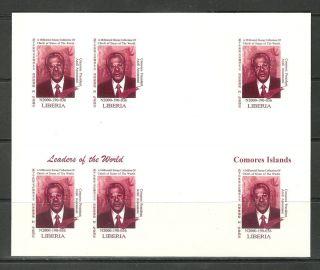 Michel 3293 Comoros Islands Imperf Bloc Un Usa World Leaders Summit Reproduction photo