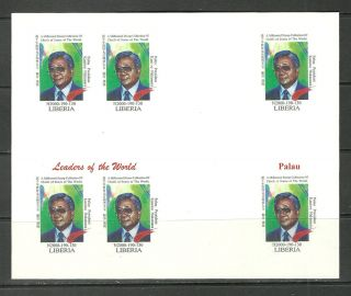 Michel 3395 Usa Palau Isl.  Imperf Bloc Un Usa World Leaders Summit Reproduction photo