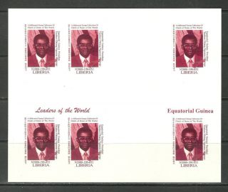 Michel 3313 Equatorial Guinea Imperf Bloc Un Usa World Leaders Sum Reproduction photo