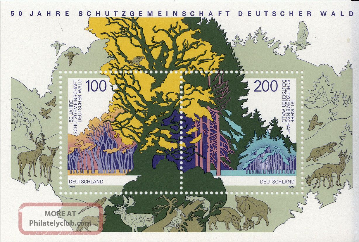 Germany - 1997 - German Forest S/s - Topical Stamps photo