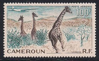 Cameroon 1955 Wildlife Mlh - Vf A.  47 photo