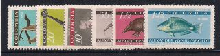 Colombia 1960 Wildlife Mlh - Vf 901 - 6 photo