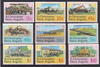 St.  Kitts & Nevis 1980 Marine Life - Vf D.  1 - 9 photo