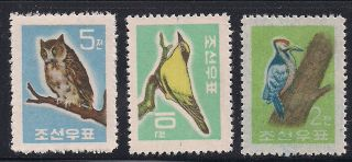 Corea - 1961 Birds - Vf 298 - 300 photo