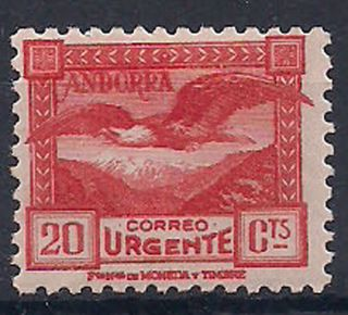 Andorra - 1929 Birds Mlh - Vf Special Delivery 1a photo