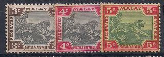 Malaya - 1901 Wild Animal Mlh - Vf 16 - 8 photo