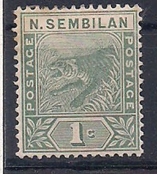 N.  Sembilan - 1891 Wild Animal Mlh - Vf 2 photo