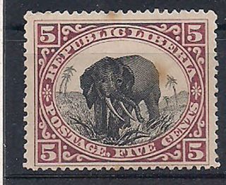 Liberia - 1896 Wildlife Mlh - Vf 47 photo