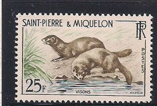 S.  Pierre & Miquelon - 1959 Wildlife Mlh - Vf 391 photo