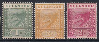 Selangor - 1891 - 5 Wild Animal Mlh - Vf 10 - 2 photo