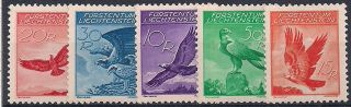 Liechtenstein - 1934 Birds Mlh - Vf A.  9 - 13 photo