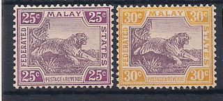 Malaya - 1922 Wild Animal Mlh - Vf 68 - 9 photo