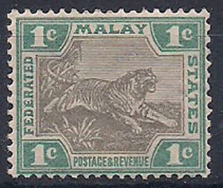 Malaya - 1901 Wild Animal Mlh - Vf 15 photo