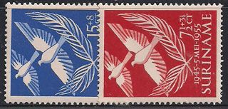 Suriname - 1955 Birds Mlh - Vf 352 - 3 photo