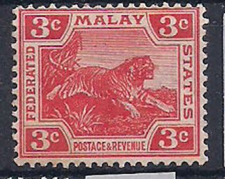 Malaya - 1906 Wild Animal Mlh - Vf 41a photo